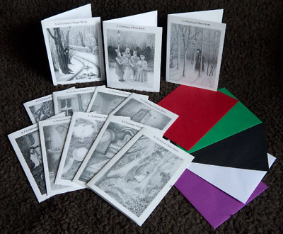 £2.99 • Buy Ghost Story For Christmas Single Design Packs Of 4 Goth Yule Cards, Multi Save