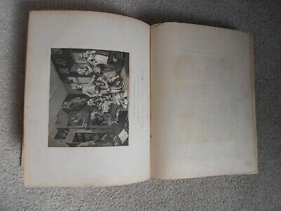 Antique Book Works Of WILLIAM HOGARTH I With Engravings  1833 • 45£
