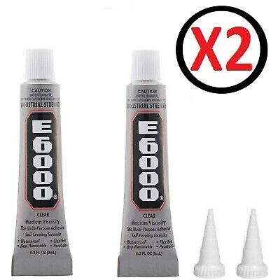 £4.99 • Buy E6000 Glue Industrial Strength Multi Purpose Clear Adhesive With Nozzle 2 X 9ml