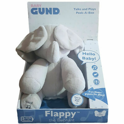 BABY GUND Flappy The Elephant / Flora The Bunny Interactive Toy • 24.99£