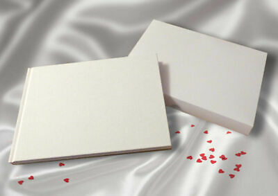 £7.50 • Buy Guest Book  Blank Paged Linen Cover Wedding Funeral Christening With Box  A5