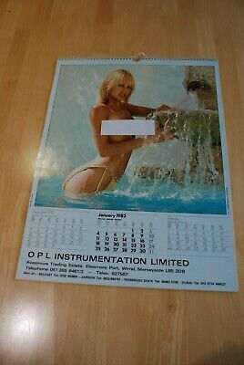 £20 • Buy Rare Modern Colour Lockwoods Glamour 1982 Wall Calendar In Very Good Condition