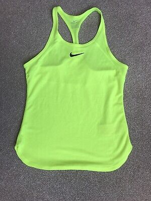 Girls Neon Nike Sports / Tennis Vest Top Age 12/13 Or XS Woman • 9£