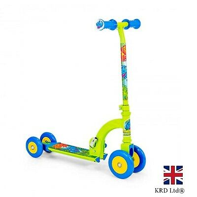 Dinosaur My First Scooter Kids Toddler Push Folding Converts 4 To 2 Wheels Gift • 31.50£