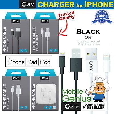 £1.64 • Buy For Apple IPhone Charger Cable 1M 3M Charging Lead & Data USB Cable Fast Charge