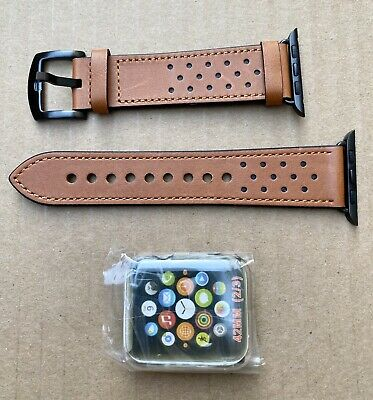 $ CDN13.05 • Buy OCYCLONE Apple Watch Series 1 2 3 42mm Genuine Leather Band/Strap Bracelet NEW