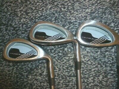 Set Of 3 Junior Young Gun  Irons With Graphite Shafts 5 And 7 And 9 Suit 9-11   • 8.99£