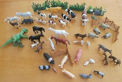 Mixed Bundle Of Various Toy Farm Animals And A Few Others - Vintage & Modern • 3.99£