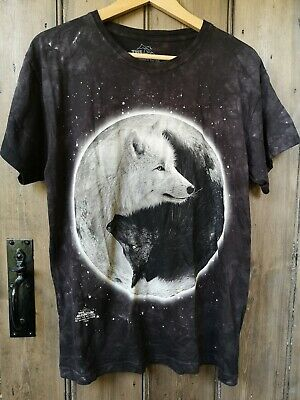 NEW! The Mountain Yin Yang Wolves T-Shirt Size: Large • 15£