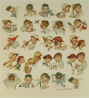 $ CDN9074.63 • Buy Norman Rockwell        A Day In The Life Of A Little Boy    MAKE  OFFER  DDS