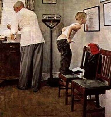 $ CDN8931.31 • Buy Norman Rockwell        A Study For The Doctor's Office    MAKE  OFFER  DDS