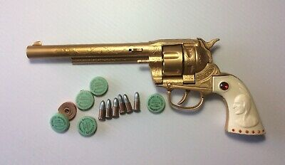 Rare Vintage Collectable Die-Cast BCM Toy Revolver Cap Gun With Bullets & Caps • 129£