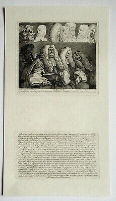 William Hogarth, The Bench, Print With Letterpress, Engraved 1758, 1837 Edition • 95£