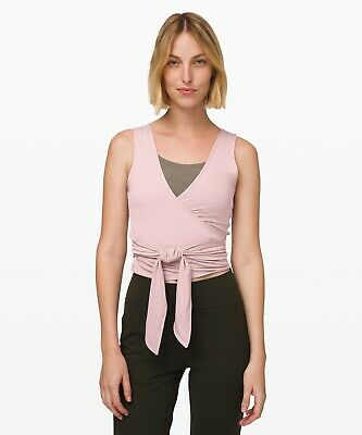 $ CDN30 • Buy NWT Lululemon Twist Me Up Crop Tank Size 10 Smokey Blush