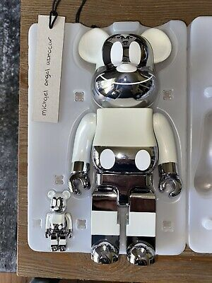 $450 • Buy Bearbrick Medicom Disney X Fragment Mickey Mouse Reverse 100% 400%