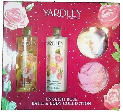 Yardley Of London English Rose Bath & Body Collection Gift Set Christmas For Her • 12.99£