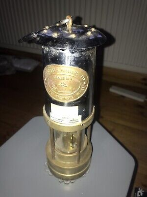 Authentic E.Thomas & Williams No 308178 Miners Oil Lamp 10 Inch Tall Cambrian BS • 40£