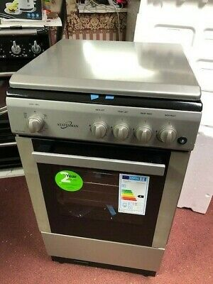 £299 • Buy LPG READY! 50x50cm Depth BATTERY IGNITION Gas Cooker FSD Silver With LID