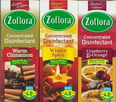 Zoflora Winter Spice Antibacterial Disinfectant - 120ml 3 Pack • 7.99£