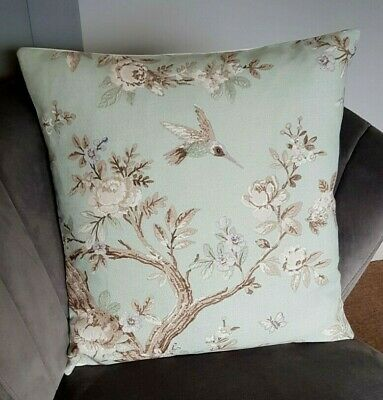 Laura Ashley Belvedere Duck Egg  Fabric Cushion Cover 16  X 16  • 7.90£