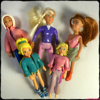 POLLY POCKET + Animal Hospital RSPCA 5 Small Dolls Rubber Clothes Bundle [gotd] • 3.99£