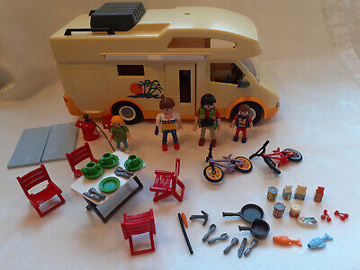 Playmobil 3647 Summer Holiday Camper Van Set With Figures & Accessories **VGC** • 14.95£