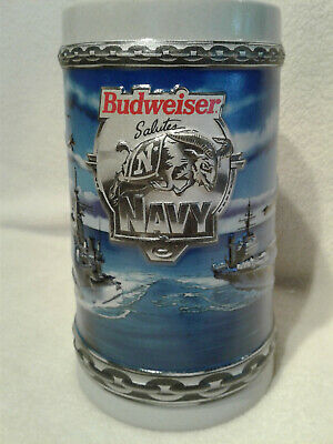 $ CDN36.59 • Buy Budweiser CS243 Military Navy Unlidded Stein