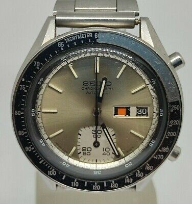 $ CDN454.14 • Buy Vintage Seiko Silver Ghost Chronograph 6139 6100 Automatic Watch Tachymeter