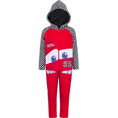 Disney Cars Boys (2-5) Overall Hoodie Robe Fleece Lightning McQueen • 19.57£