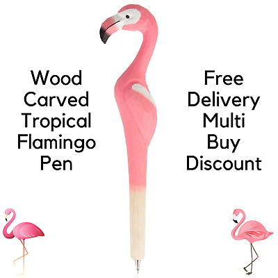 £3 • Buy Wood Carved Novelty Fun Pens Stationery Gift Party Bag Filler School Ballpoint