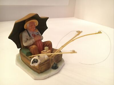 "$ CDN6.49 • Buy Norman Rockwell 1984 Gorham ""FISHING"" Porcelain Figurine Saturday Evening Post"