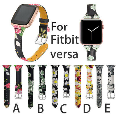 $ CDN11.33 • Buy For Fitbit Versa 1/2/Lite Replacement Leather Wristband Bracelet Band Strap D
