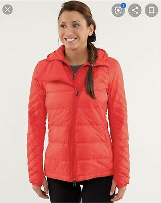 $ CDN140 • Buy Lululemon What The Fluff Jacket Size 6 Hooded Down Love Red