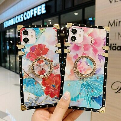 AU15.99 • Buy Girl Flower Trunk Case Cover Ring Holder F IPhone 12 11 Pro XSMax Samsung Huawei