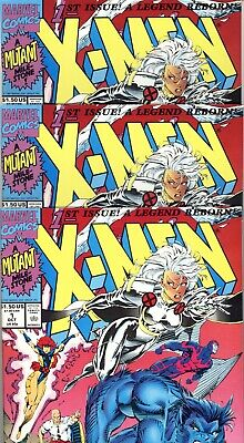 AU29 • Buy X-Men #1 X 3  (Average VF/NM) 1991  First Issue Variant - Lot Of 3 Copies