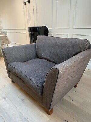 Brown Used Marks & Spencer 2 Seater Love Seat Fabric Armchair In Good Condition • 50£
