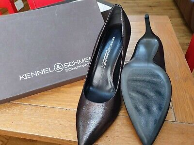 Stunning KENNEL & SHMENGER Bronze All Leather Shoes, Size 7 • 10£