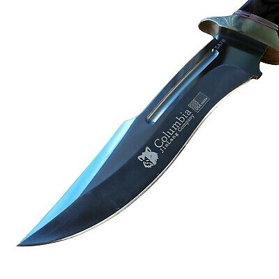 AU46.80 • Buy COLUMBIA Fixed Blade Knife Large Bowie Camping Hunting Survival Pocket Knife  AU