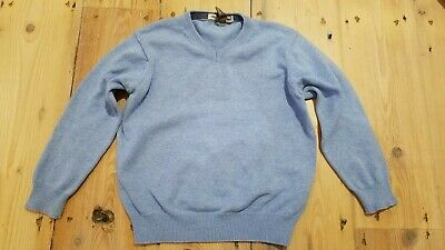 Zara Boys Jumper Age 3-4 Pale Blue V Neck Smart Casual Ice Blue 104cm • 4.55£