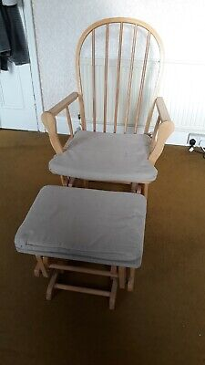Nursing Glider Maternity Rocking Chair With Stool • 20£