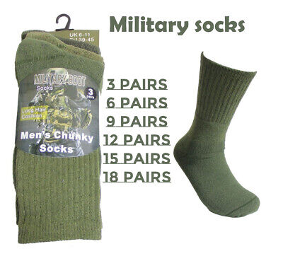 £4.49 • Buy 3-18 Pairs Mens Army Hiking Military Boot Work Socks High Performance Toe 6-12