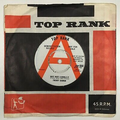 Freddie Cannon - Buzz Buzz A-Diddle-It - Opportunity,1961 Top Rank Demo • 9.99£
