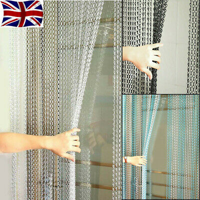 Metal Chain Insect Fly Door Curtain Screen Aluminium Pest Control 214 X 90CM New • 33.98£