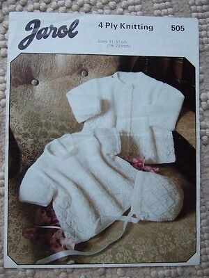 Knitting Pattern - Jarol - Dress Coat & Bonnet Set • 2£