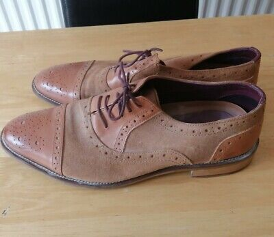 London Brogues Two Tone Leather Lace Up Shoes - Size 10 (44) • 12£