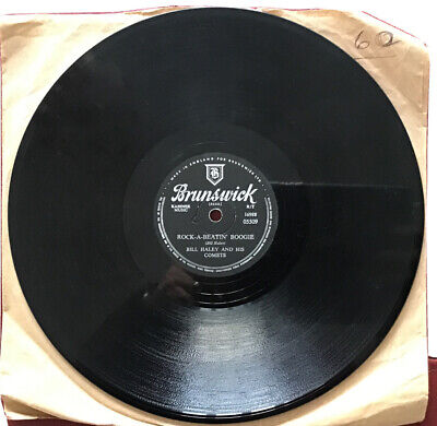 "Bill Haley And His Comets 10""78 Rock-A-Beatin' Boogie/Burn That Candle 1955 VG • 5.50£"