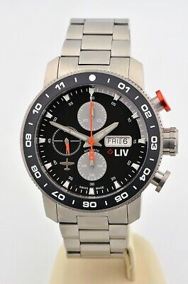 $ CDN782.03 • Buy Men's LIV Genesis Chronograph Titanium Day/Date 46mm Swiss Automatic Watch