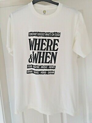 Vintage Yorkshire Where And When T-shirt Size Xl 100% Cotton • 9.99£