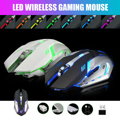 AU15.99 • Buy LED Wired Wireless Gaming Mouse USB Ergonomic Optical For PC Laptop Rechargeable