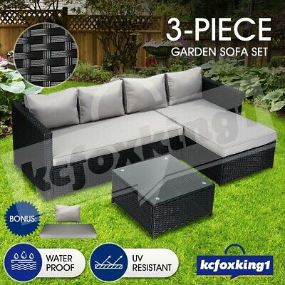 AU489.29 • Buy Outdoor Garden Furniture Couch Lounge Setting Sofa Table And Chairs Set Patio